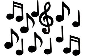 View larger image of Music Notes Wall Décor - Black, 12 Pack