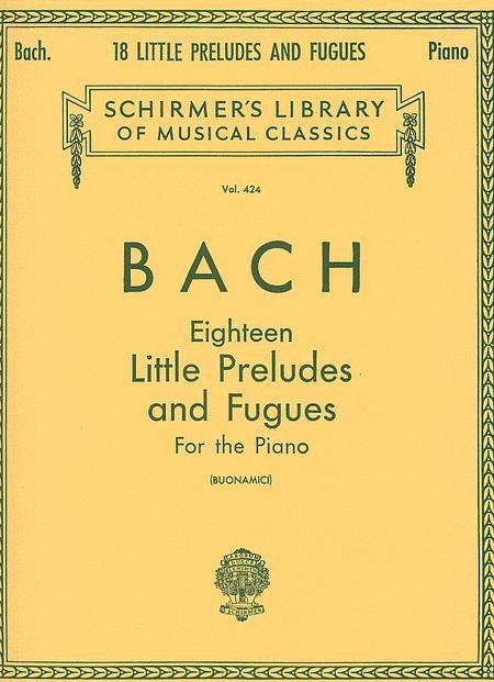 View larger image of Eighteen Little Preludes And Fugues For The Piano (Bach)