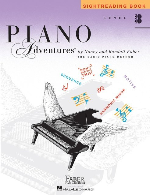 View larger image of Piano Adventures Level 3B – Sightreading Book