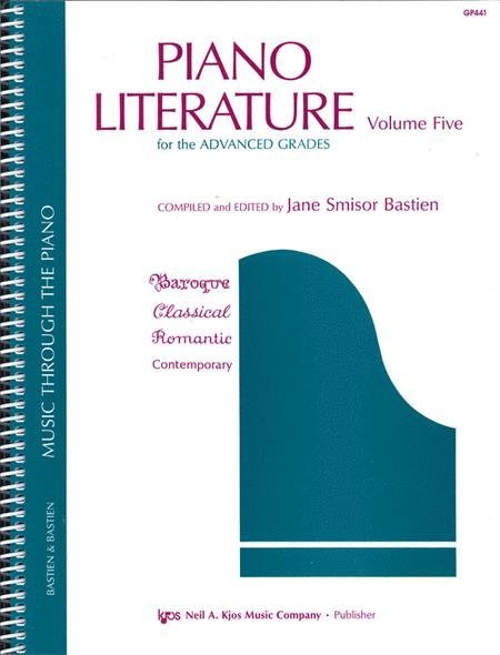 View larger image of Piano Literature, Volume 5 (Advanced)