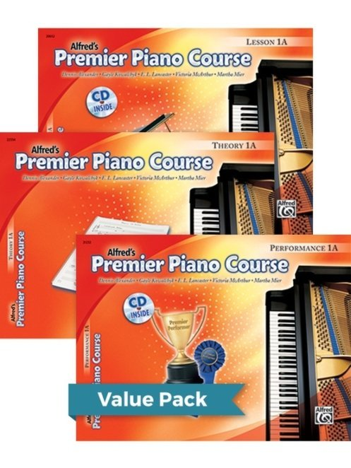 View larger image of Premier Piano Course 1A - Value Pack (Lesson/Theory/Performance)