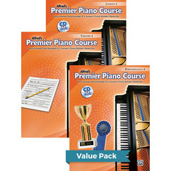 Premier Piano Course 4 - Value Pack (Lesson/Theory/Performance)