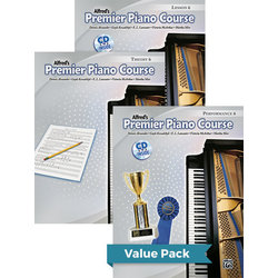 Premier Piano Course 6 - Value Pack (Lesson/Theory/Performance)