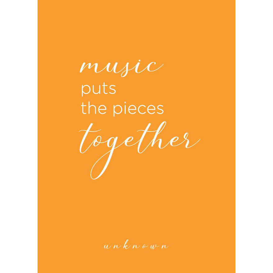 View larger image of Music Puts The Pieces Together Greeting Card