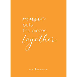 Music Puts The Pieces Together Greeting Card