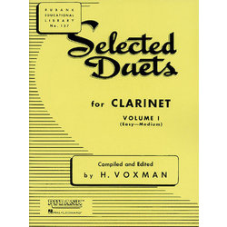 Selected Duets for Clarinet Volume 1 - Easy to Medium