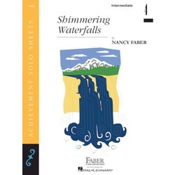 Shimmering Waterfalls (Intermediate/Level 4) - Piano Solo