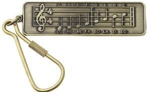 View larger image of Music Staff Keychain