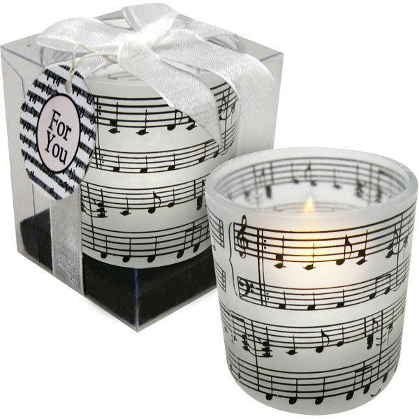 View larger image of Music Staff & Notes Printed Tea Light