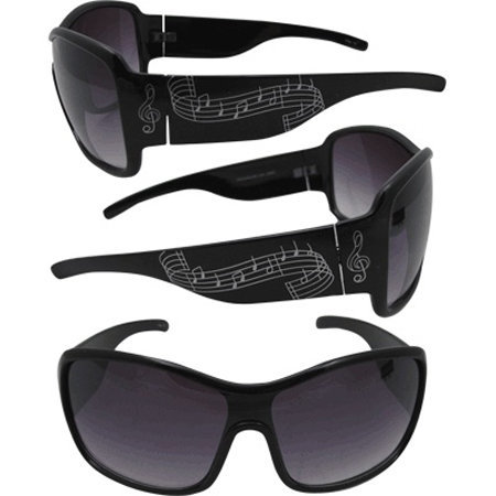View larger image of Music Staff Sunglasses - Black