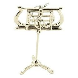 Music Stand Ornament - Silver