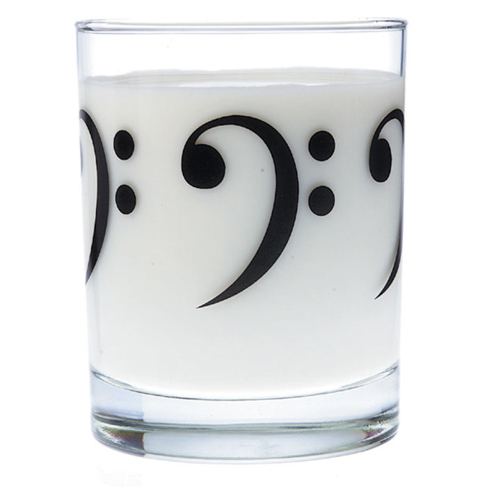 View larger image of Music Themed Glass Tumbler - Bass Clef