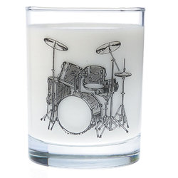 Music Themed Glass Tumbler - Drums