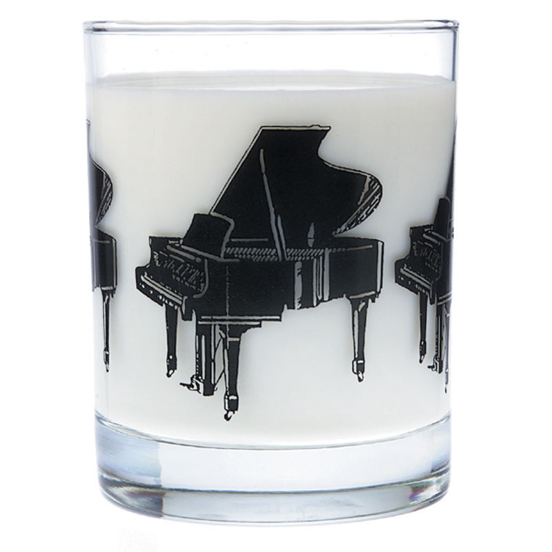 View larger image of Music Themed Glass Tumbler - Grand Piano