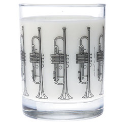 Music Themed Glass Tumbler - Trumpet