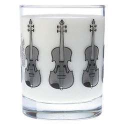 Music Themed Glass Tumbler - Violin