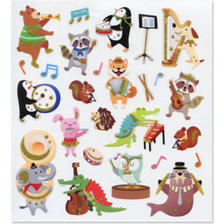 Musical Animals Stickers