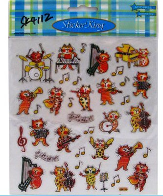 View larger image of Musical Cats Stickers