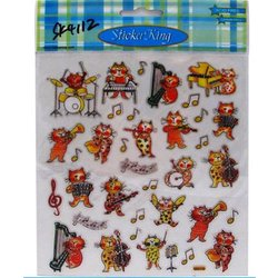 Musical Cats Stickers