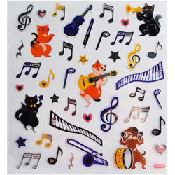 Musical Dogs and Cats Stickers
