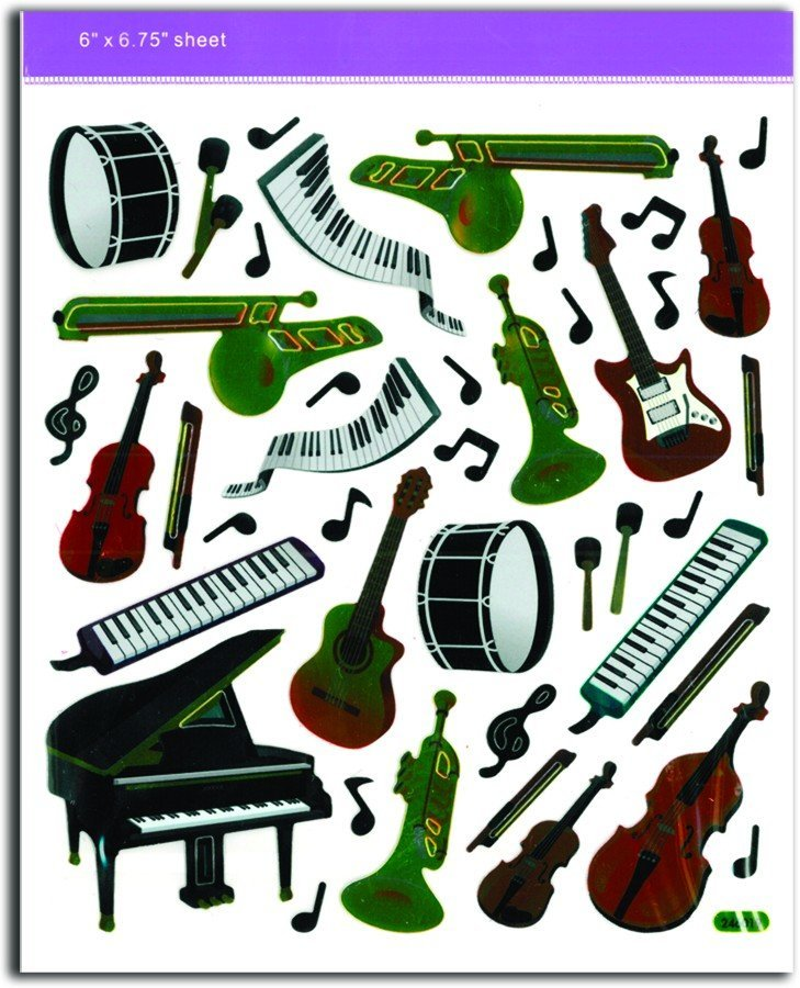 View larger image of Musical Instrument Stickers