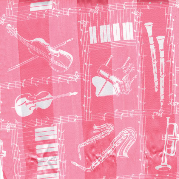 View larger image of Musical Instruments Scarf - Pink