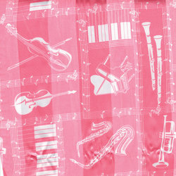 Musical Instruments Scarf - Pink