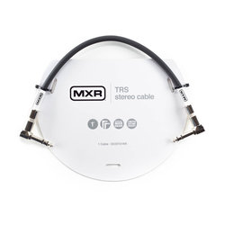 MXR TRS Stereo Cable - Right-Angle to Right-Angle, 1'