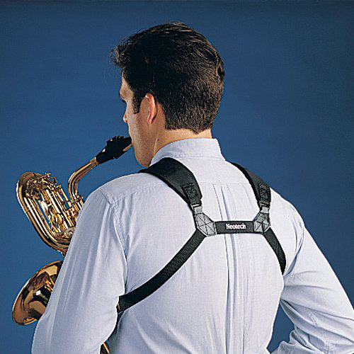 View larger image of Neotech Soft Harness Saxophone Strap - X-Long, Swivel Hook, Black