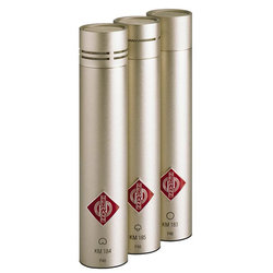 Neumann KM 184 Stereo Set Small Diaphragm Cardioid Microphone - Nickel