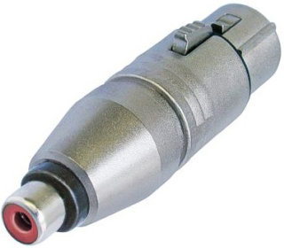 View larger image of Neutrik NA2FPMF Circular Adapter - 3-Pole XLR Female to RCA