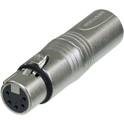 Neutrik NA3M5F Circular Adaptor - 3-Pole XLR Male to Pole XLR Female