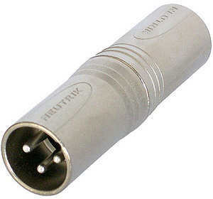 View larger image of Neutrik NA3MM Circular Adapter - 3-Pole XLR Male to 3-Pole XLR Male