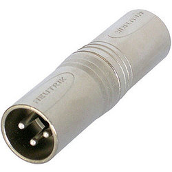 Neutrik NA3MM Circular Adapter - 3-Pole XLR Male to 3-Pole XLR Male