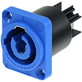 View larger image of Neutrik NAC3MPA-1 powerCON Chassis Connector - Blue