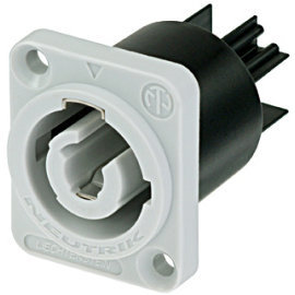 View larger image of Neutrik NAC3MPB-1 powerCON Chassis Connector - Grey