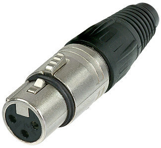 View larger image of Neutrik NC3FX XLR Cable Connector - 3-Pole Female, Nickel, Silver Contacts