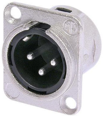 View larger image of Neutrik NC3MD-L-1 XLR Chassis Connector - 3-Pole Male, Nickel, Silver Contacts