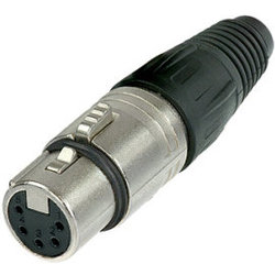 Neutrik NC5FX XLR Cable Connector - 5-Pole Female, Nickel, Silver Contacts