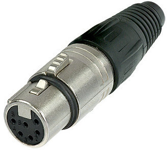 View larger image of Neutrik NC6FX XLR Cable Connector - 6-Pole Female, Nickel, Silver Contacts
