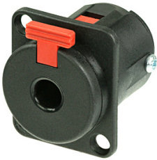 View larger image of Neutrik NJ3FP6C-BAG Locking 1/4 Chassis Jack - D-Size, Metal, Silver Contacts
