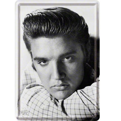 View larger image of Nostalgic Art Elvis Portrait Metal Card