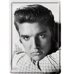 Nostalgic Art Elvis Portrait Metal Card