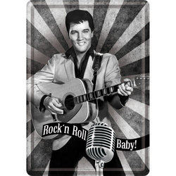 Nostalgic Art Elvis Rock N Roll Metal Card