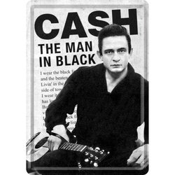 Nostalgic Art Johnny Cash Man In Black Metal Card