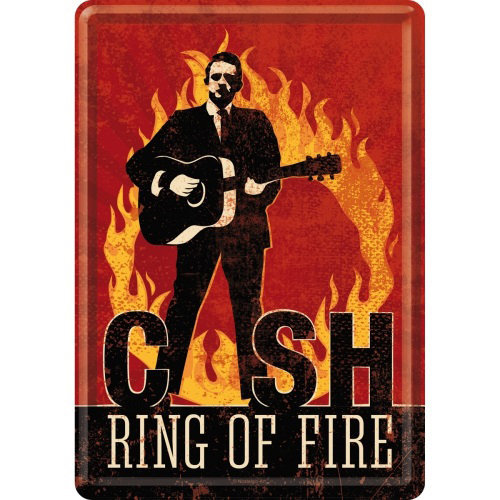View larger image of Nostalgic Art Johnny Cash Ring Of Fire Metal Card