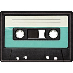 Nostalgic Art Retro Cassette Metal Card