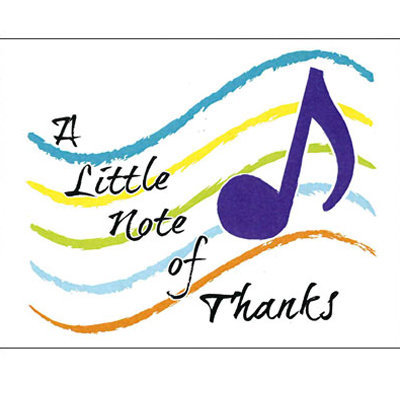 View larger image of Note of Thanks Note Cards - 8 Box