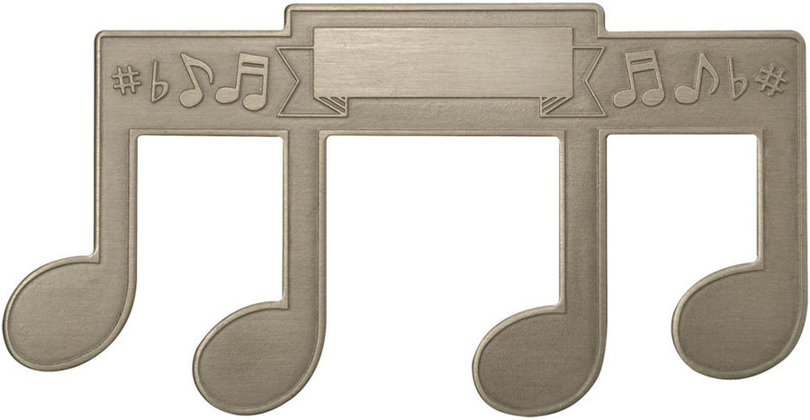 View larger image of Note Shaped Stainless Steel Page Holder - Embossed - Engravable