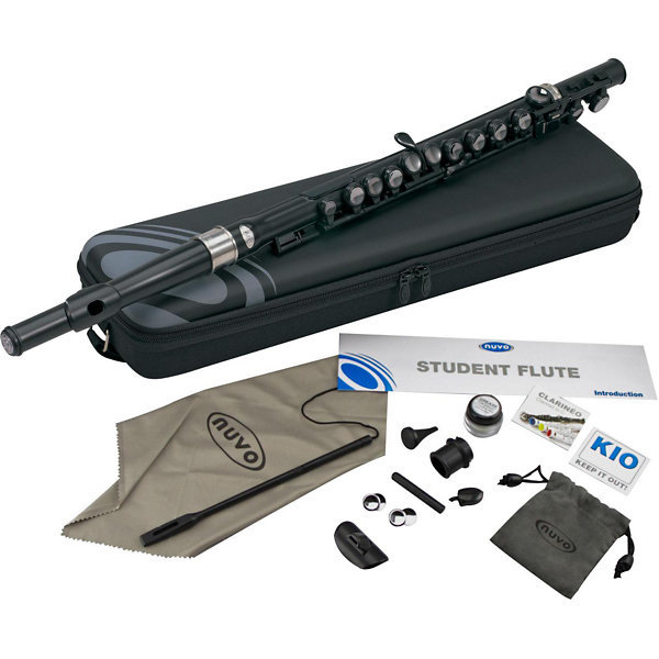 View larger image of Nuvo Student Flute Kit - Black/Black